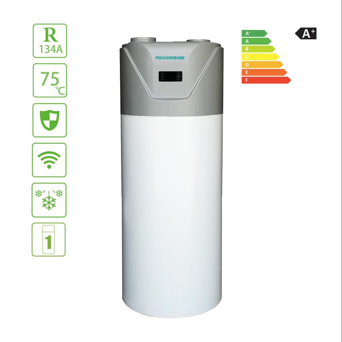 Low Energy Consumption Monoblock Indoor Heat Pump Water Heater